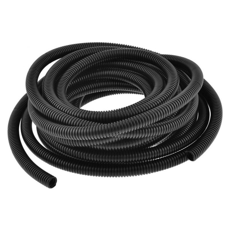 Uxcell Plastic Insulation 14.5 mm Inner Dia Corrugated Wire Tubing Tube 10M